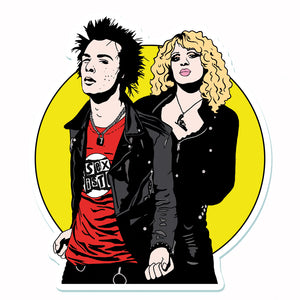 Sid And Nancy Vinyl Sticker