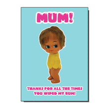 Load image into Gallery viewer, Thanks Mum Greetings Card