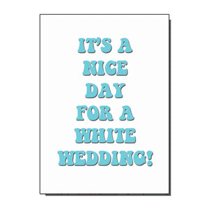 White Wedding Greetings Card