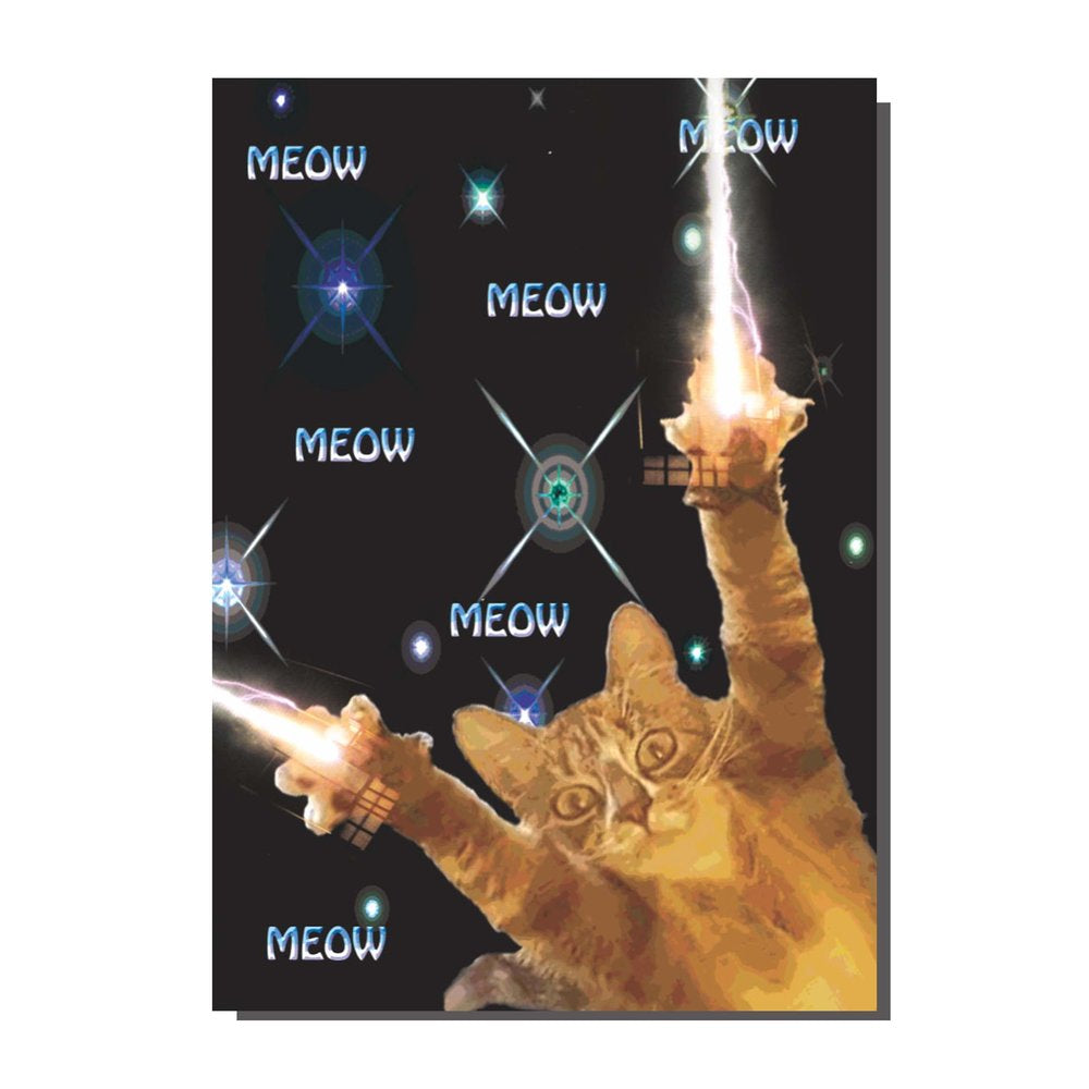 Zap Meow Zap Space Kitty Card