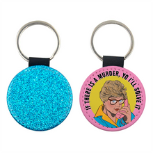Load image into Gallery viewer, Jessica Fletcher vs Vanilla Ice Glitter Keyring