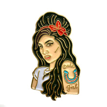 Load image into Gallery viewer, Amy Winehouse Enamel Pin Badge