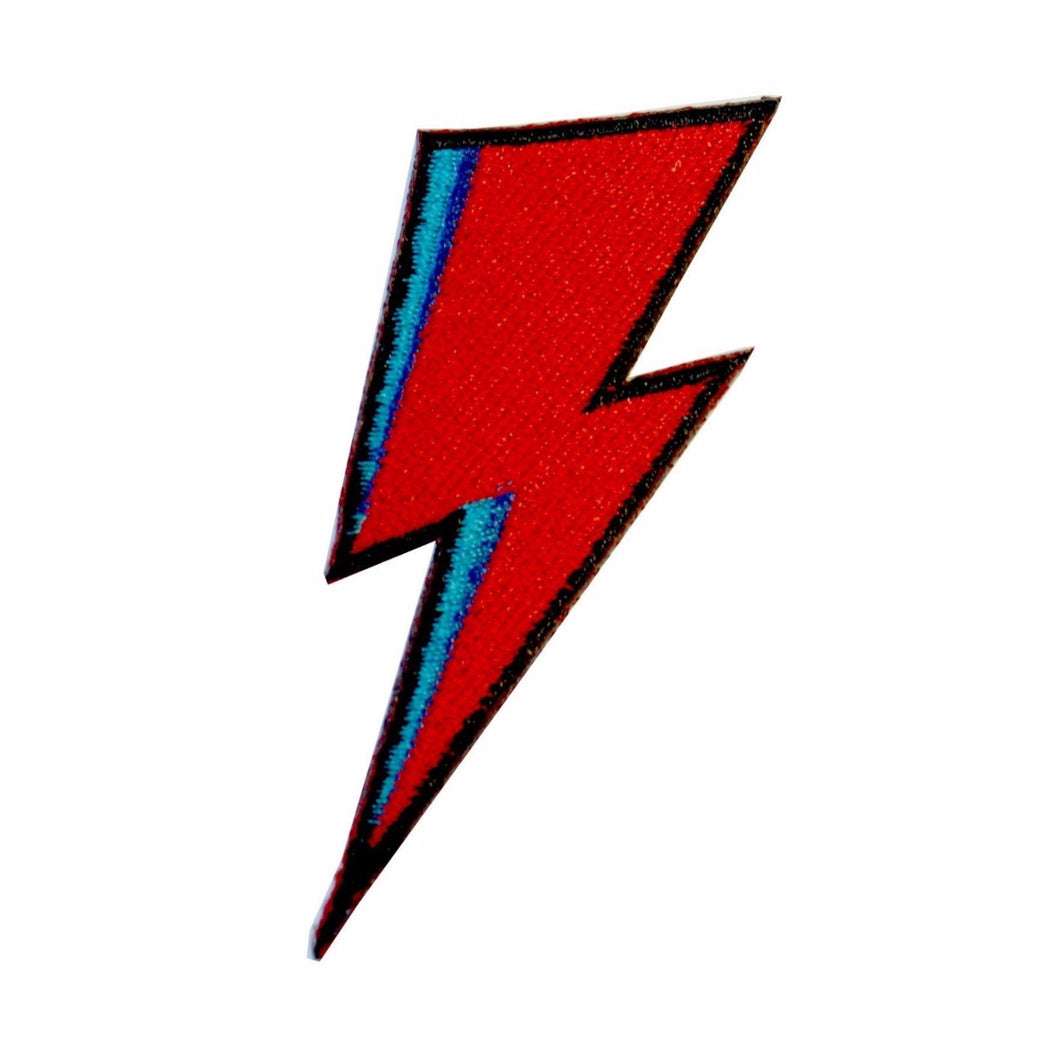 Bowie Flash Iron On Patch