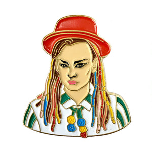 1980s stylee Boy George Enamel Pin Badge