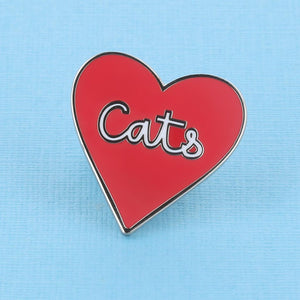 Love Of Cats Heart Shaped Enamel Pin