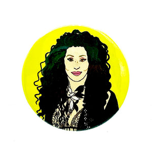 Cher Button Pin Badge