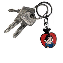 Load image into Gallery viewer, Snow White Enamel Keyring