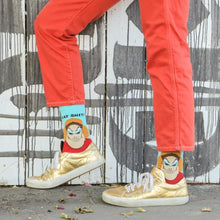 Load image into Gallery viewer, Divine Pink Flamingos Eat Shit Unisex Crew Socks