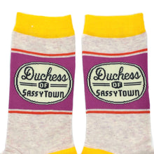 Load image into Gallery viewer, Duchess Of Sassy Town Socks