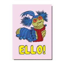 Load image into Gallery viewer, Ello Labyrinth Worm Greetings Card