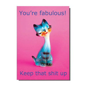 You're Fabulous Keep Thats Shit Up Cat Card