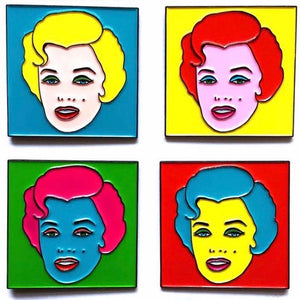 Marilyn Monroe Pop Art Enamel Pin Badge