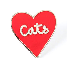 Load image into Gallery viewer, Love Of Cats Heart Shaped Enamel Pin