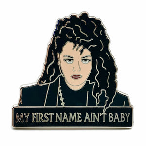 Janet Jackson My First Name Ain't Baby Enamel Pin Badge