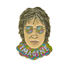Load image into Gallery viewer, John Lennon Imagine Enamel Pin Badge