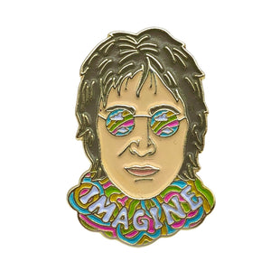 John Lennon Imagine Enamel Pin Badge