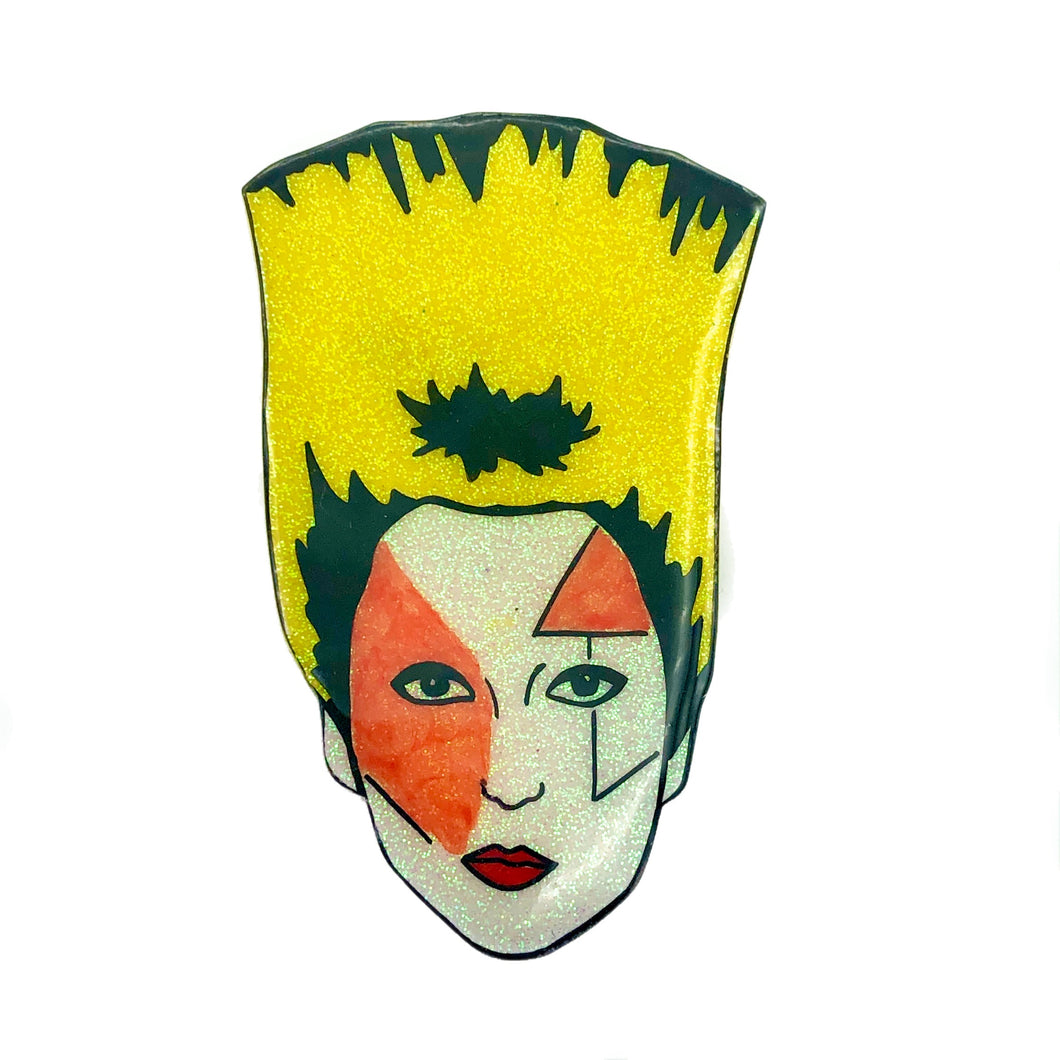 Jordan Statement Size The Sex Pistols Glittery Punk Rock Brooch