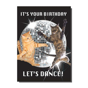 It's Your Birthday Let's Dance Cat Card
