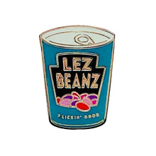Load image into Gallery viewer, Lez Beanz Enamel Pin Badge