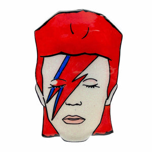 David Bowie Glittery Brooch