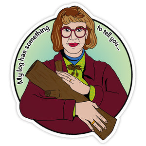 Log Lady Twin Peaks Vinyl Sticker