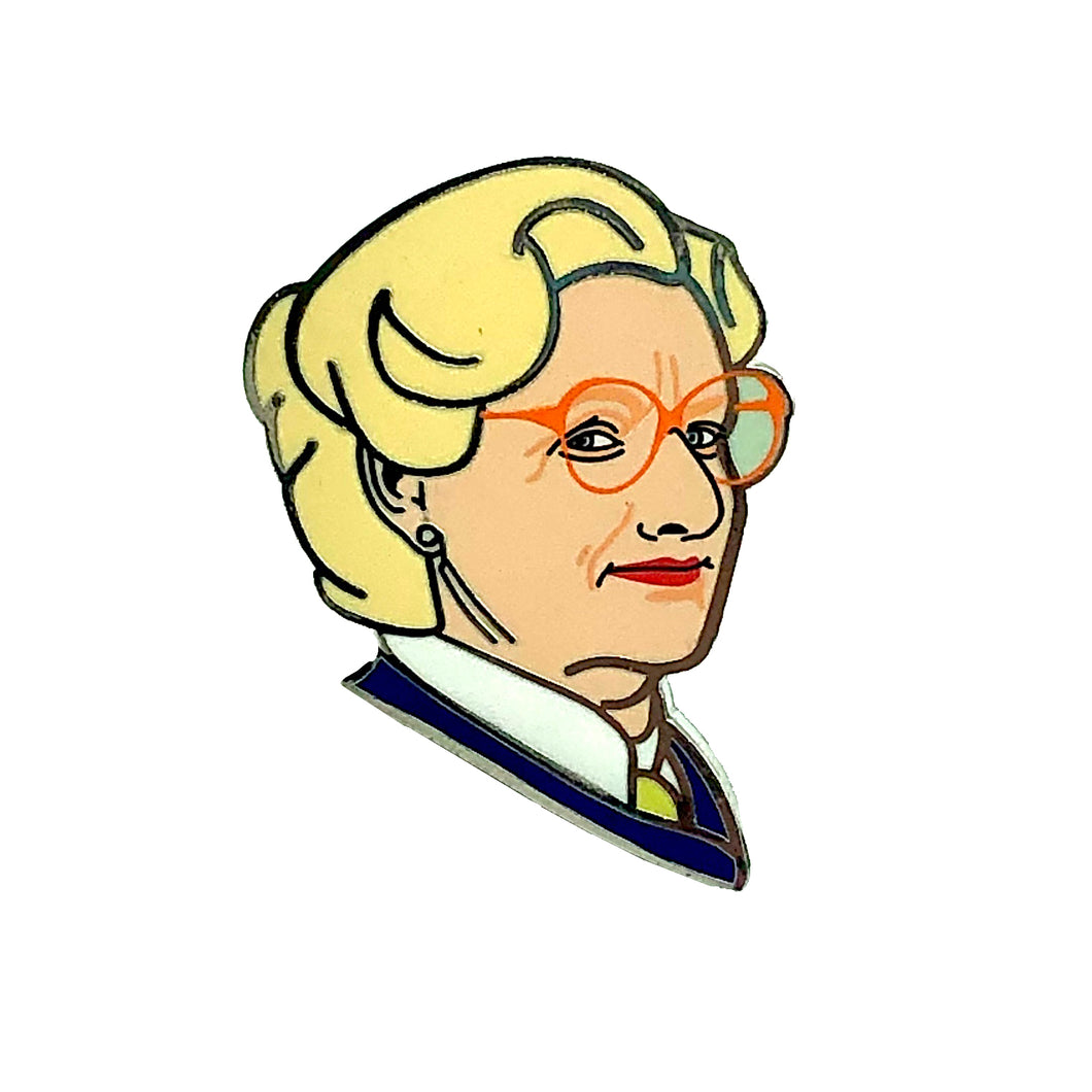 Mrs Doubtfire Enamel Pin Badge
