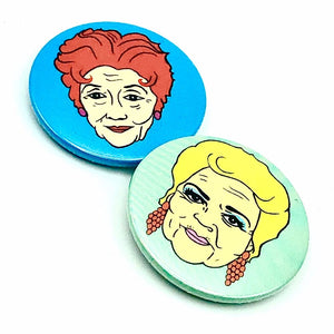 Pat And Dot Button Pin Badge Set