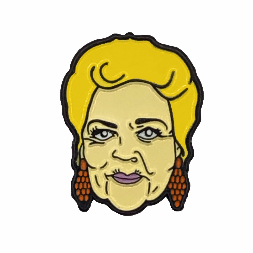 Pat Butcher Soap Queen Enamel Pin Badge