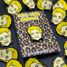 Load image into Gallery viewer, Pat Butcher Soap Queen Enamel Pin Badge