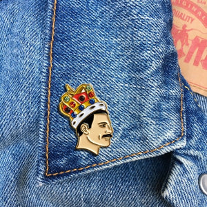 Freddie Mercury Enamel Pin Badge