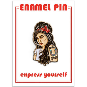 Amy Winehouse Enamel Pin Badge