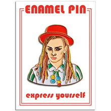 Load image into Gallery viewer, 1980s stylee Boy George Enamel Pin Badge