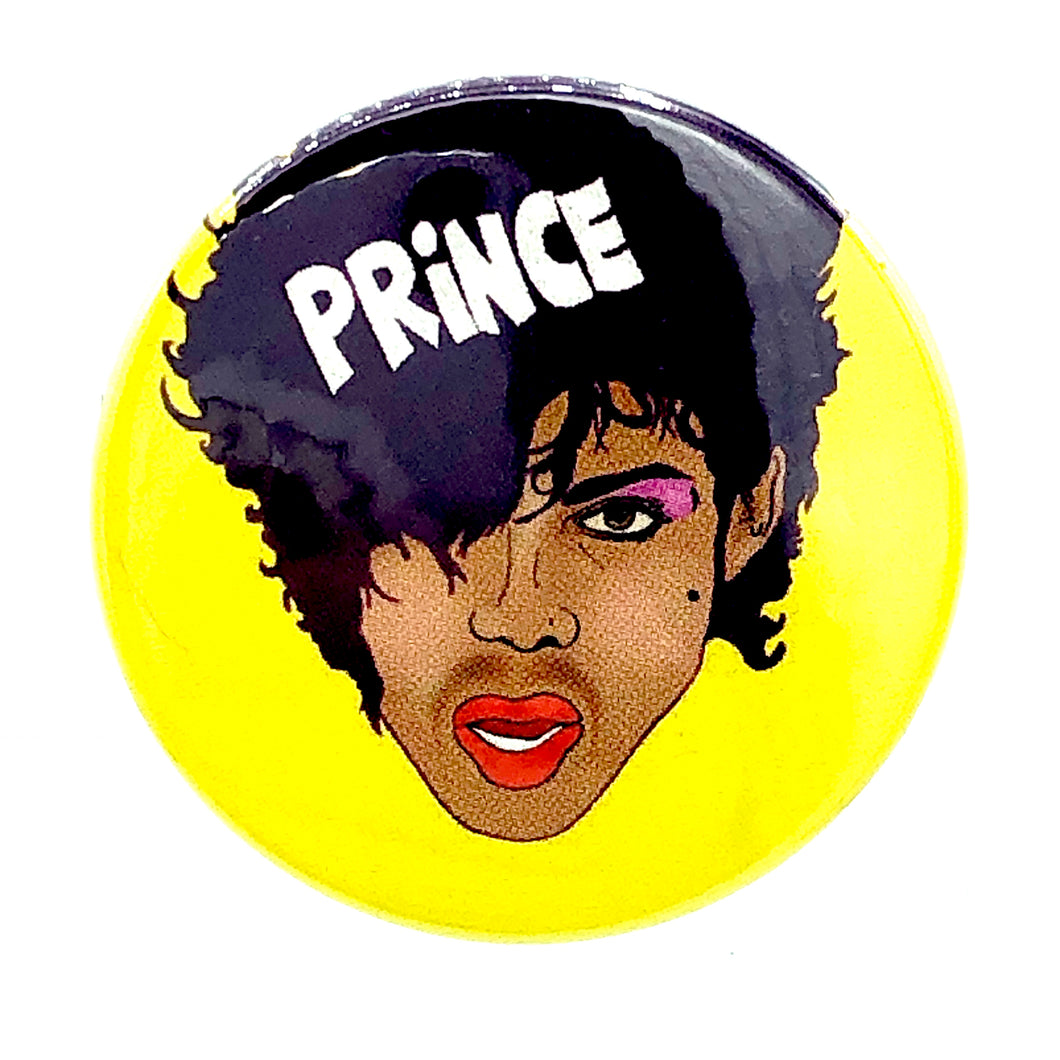 1980s Styleee Prince Button Pin Badge