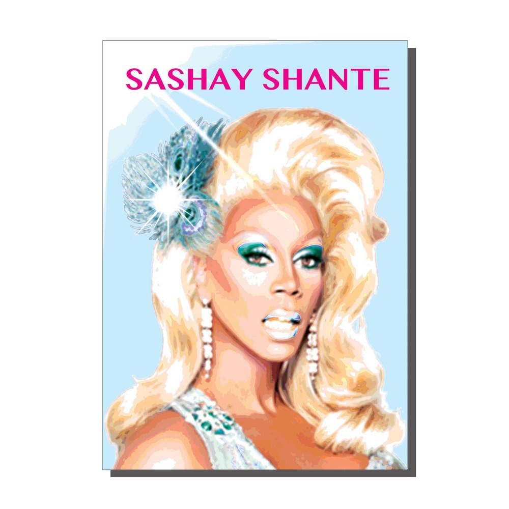 Sashay Away Drag Queen Card