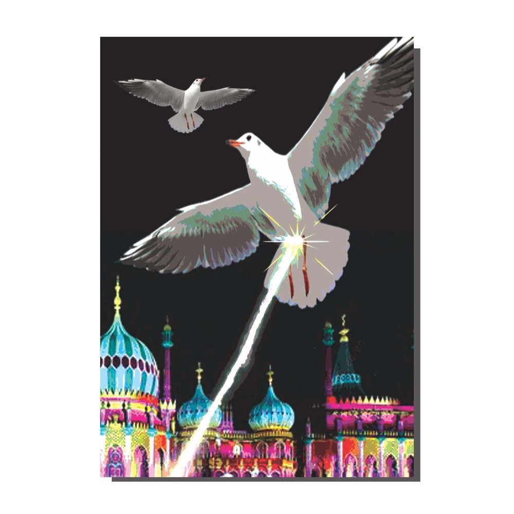 Seagulls Shitting Over Brighton Card