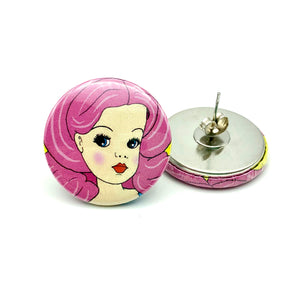 Sindy Button Stud Earrings