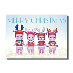Snow Babies Christmas Card