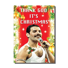 Load image into Gallery viewer, Freddie Mercury Thank God It's Christmas Card