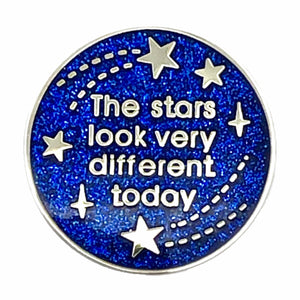 The Stars Look Very Different Today Enamel Pin