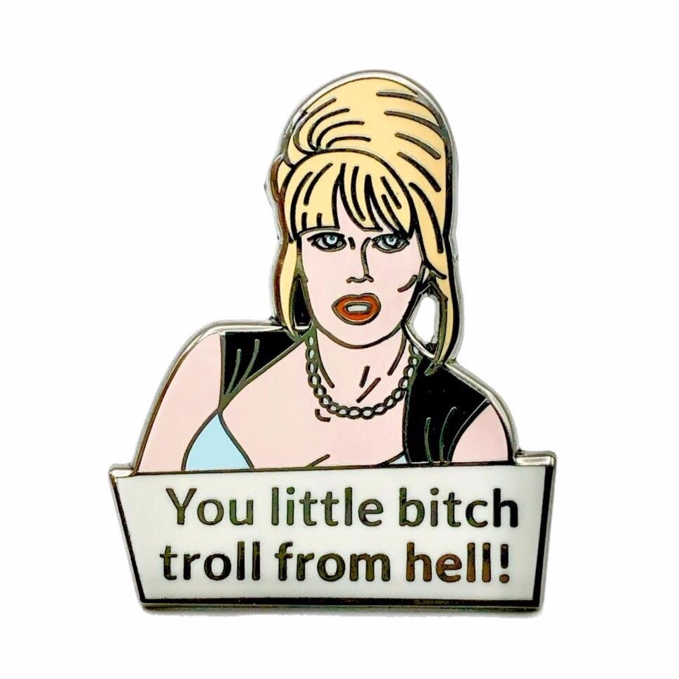 Patsy Enamel Pin Badge