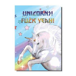 Unicorns Fuck Yeah Card