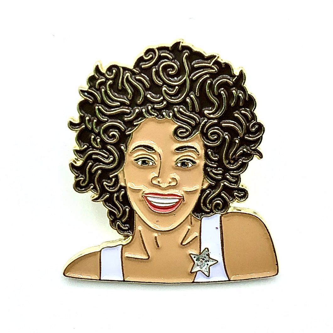 Whitney Enamel Pin Badge