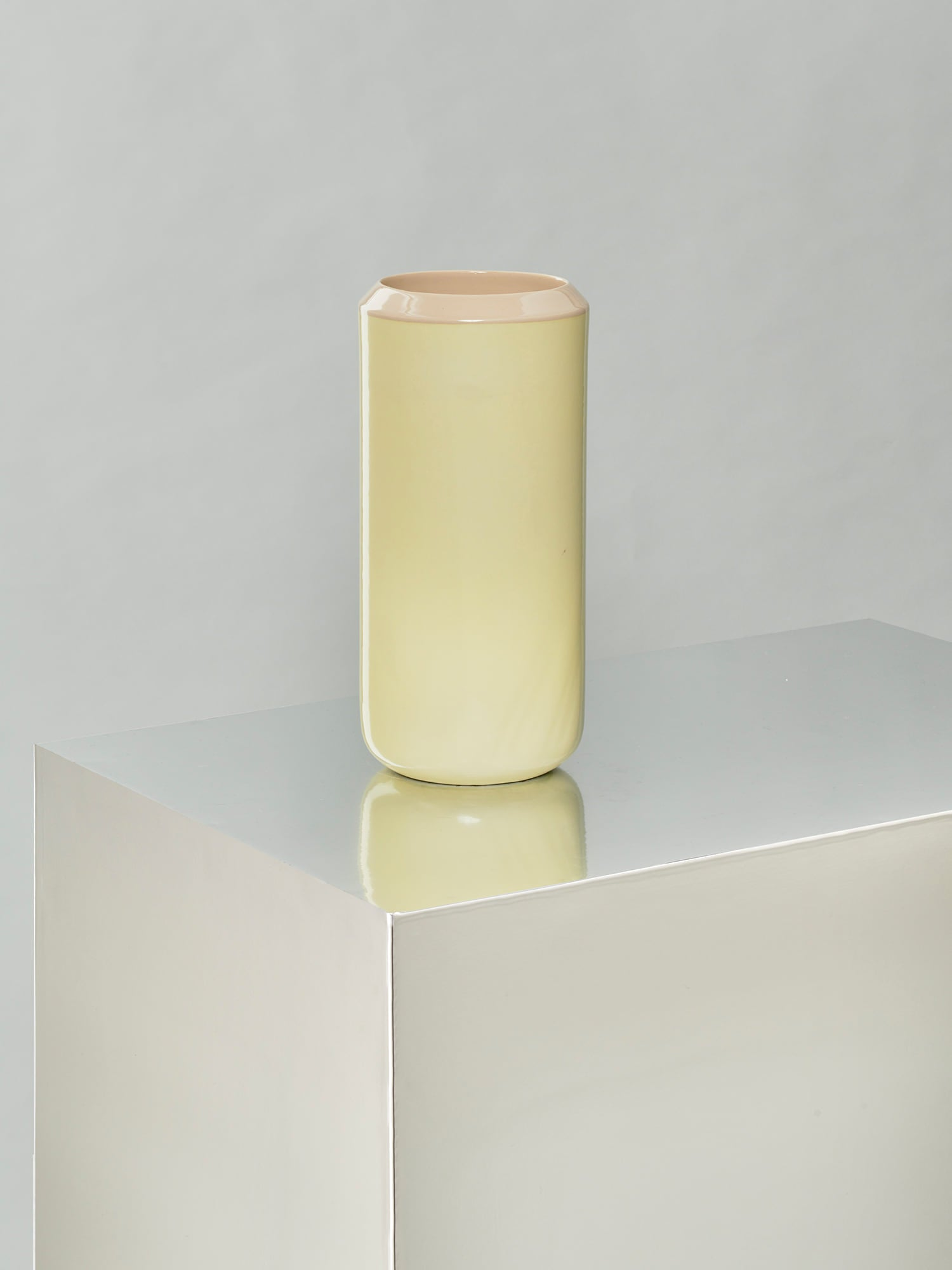 Into Each Other - Vase 2 - Yellow and Beige