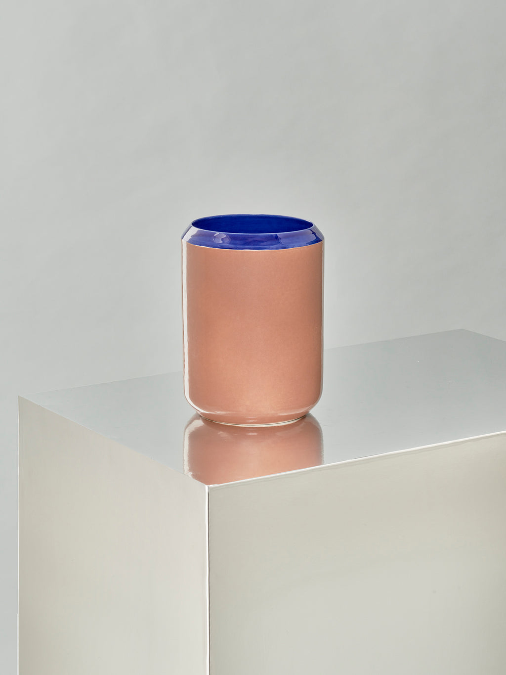 Into Each Other - Vase 1 - Blue and Brick