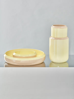 Into Each Other - Vase 1 - Yellow and Beige