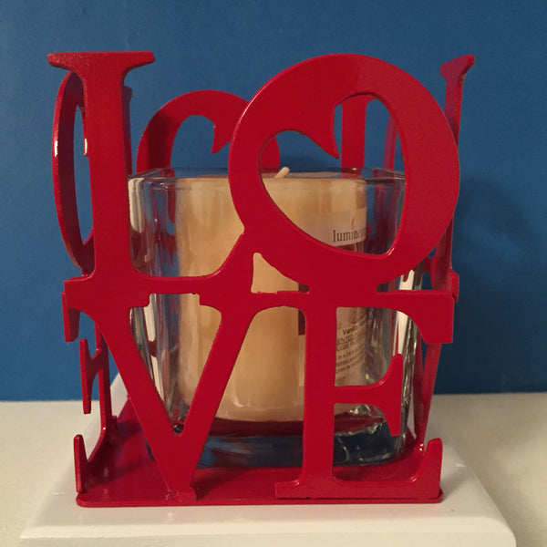 Love w/heart candle holder.