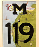 M-119 road sign wall hanging