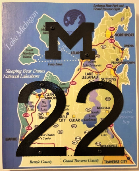 M-22 road wall hanging