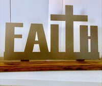 Faith on wood(oak barrel stave)