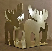 Moose candle/Flower pot holder 6 inch